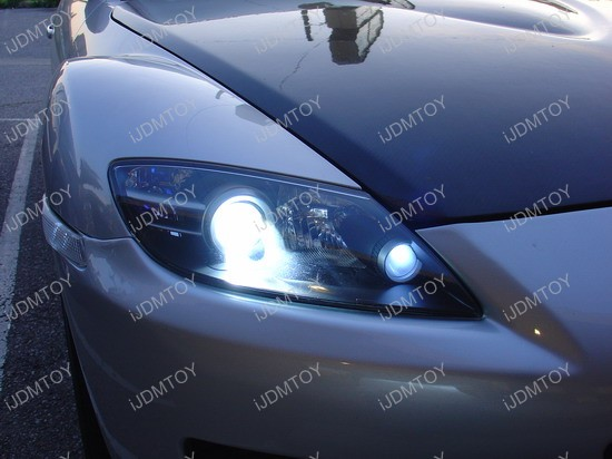 Mazda Rx 8 8000k Hid Bulbs Led Parking Lights And Blue